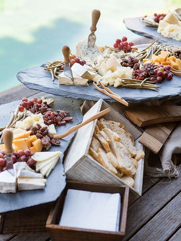 DIY outdoor wedding food station ideas