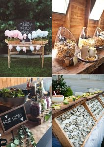 DIY wedding food bar ideas