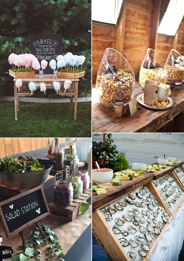 DIY wedding food bar ideas