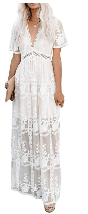 EcoSunny Womens Engagement Photo Dress