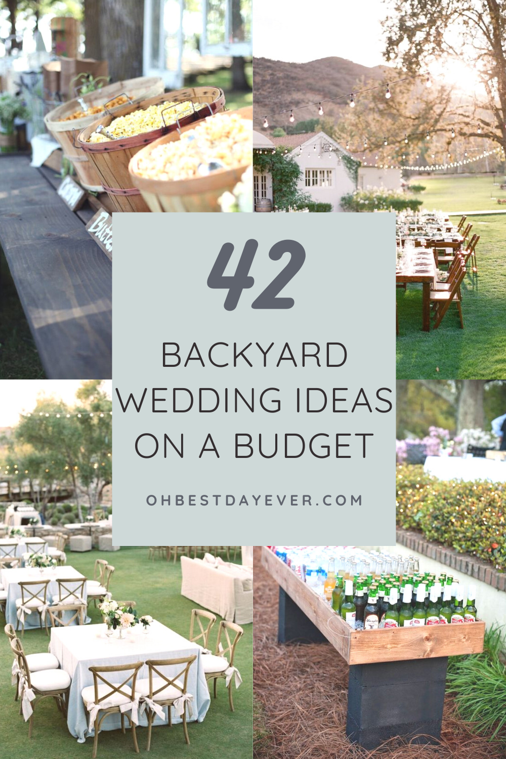 42 BACKYARD WEDDING IDEAS ON A BUDGET FOR 2021