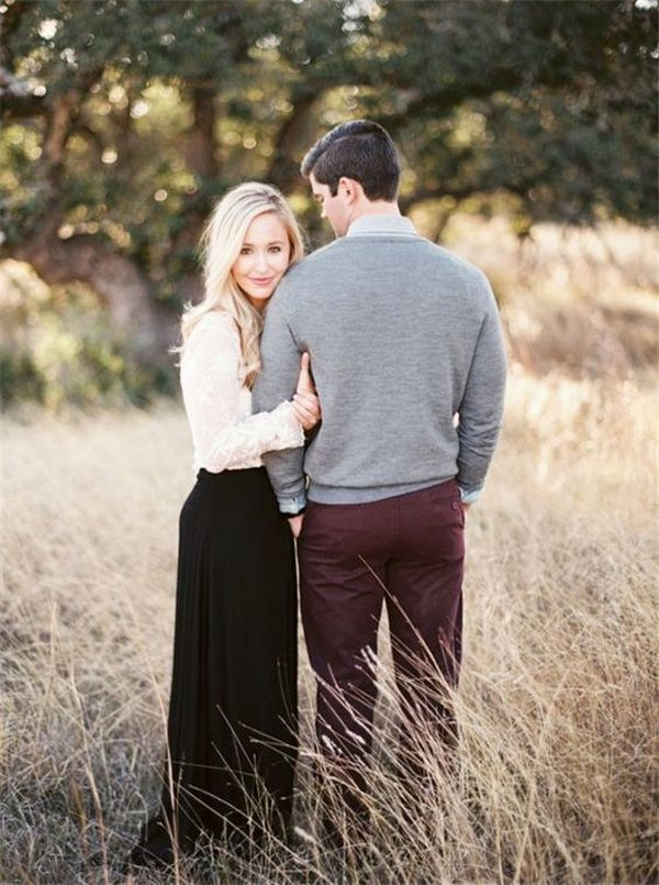 autumn wedding engagement photo ideas