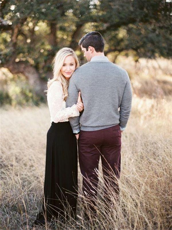 autumn wedding engagement photo ideas