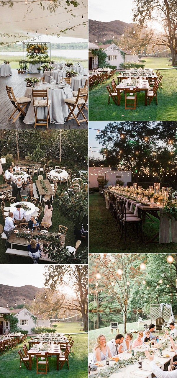 backyard outdoor wedding reception ideas