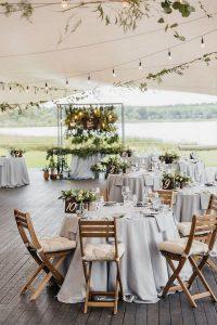 backyard tented wedding reception ideas