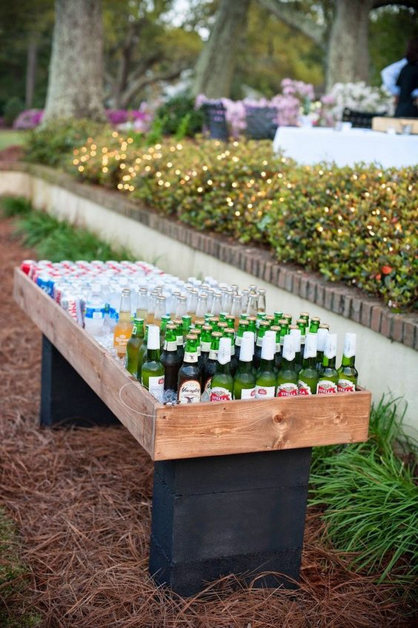 backyard wedding drink station ideas
