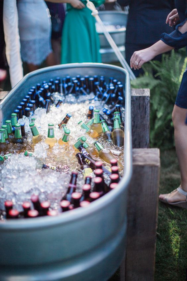 backyard wedding drink station