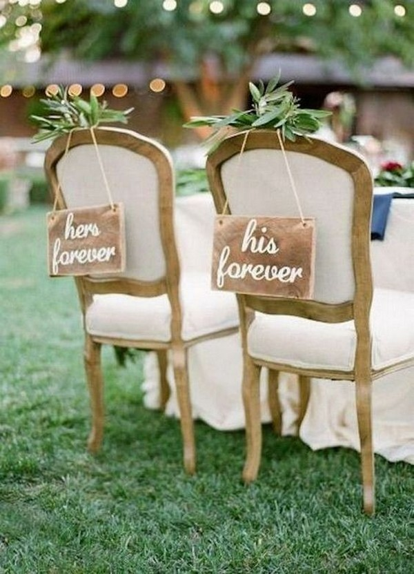 bride and groom wedding chair ideas