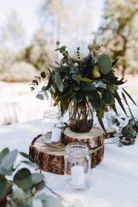 budget friendly simple rustic wedding centerpiece