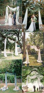 budget friendly wedding arch backdrop ideas