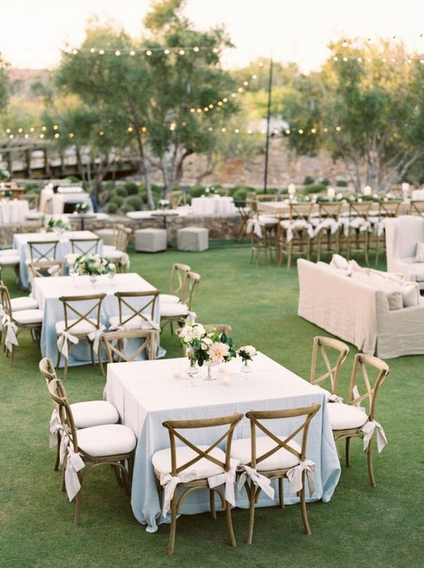 chic backyard wedding reception ideas