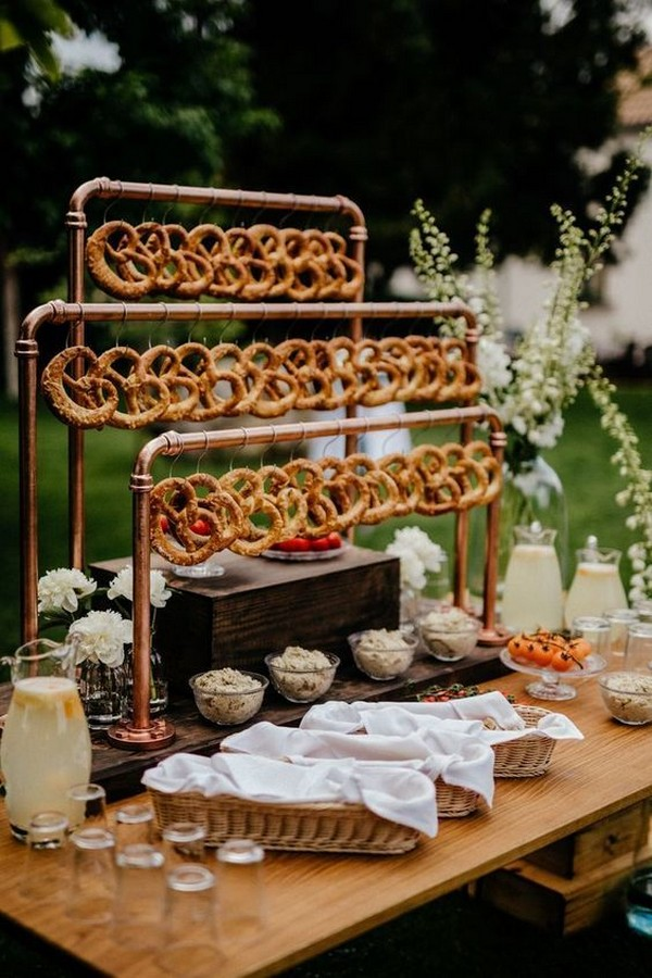 chic outdoor wedding food station ideas