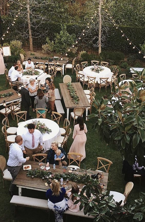 chic rustic backyard wedding reception ideas