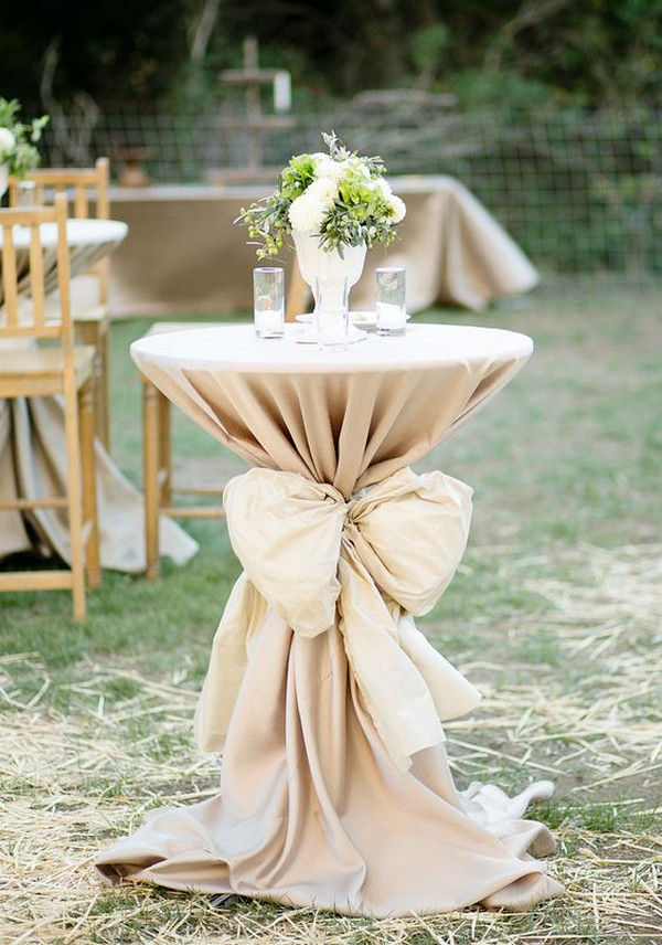 chic rustic wedding cocktail table