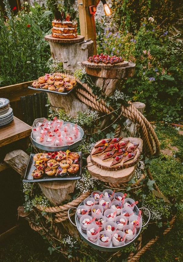 country wedding food station display ideas