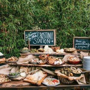 crostini wedding food bar