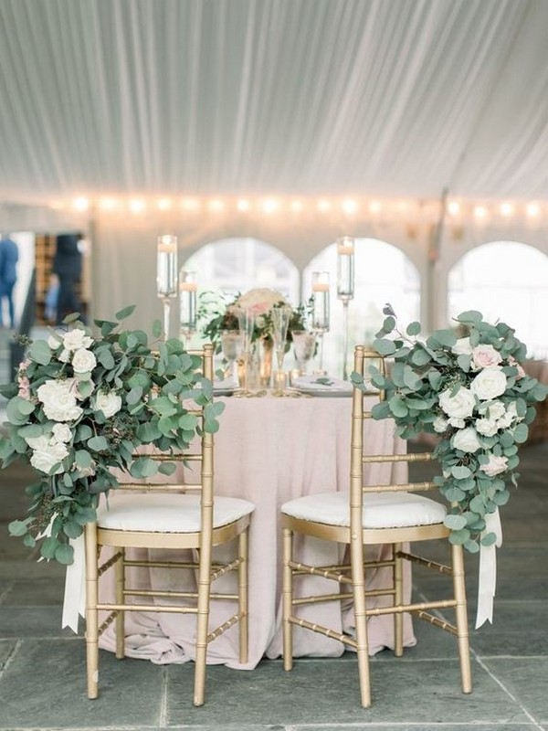 elegant bride and groom wedding chairs