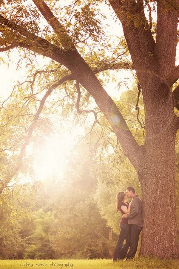 fabulous fall engagement photo
