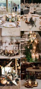 fall wedding centerpiece ideas with candles