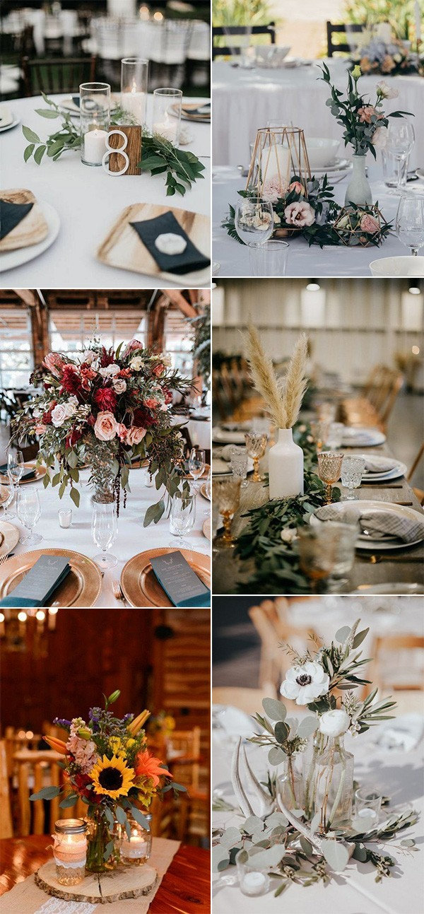 fall wedding centerpieces for 2019