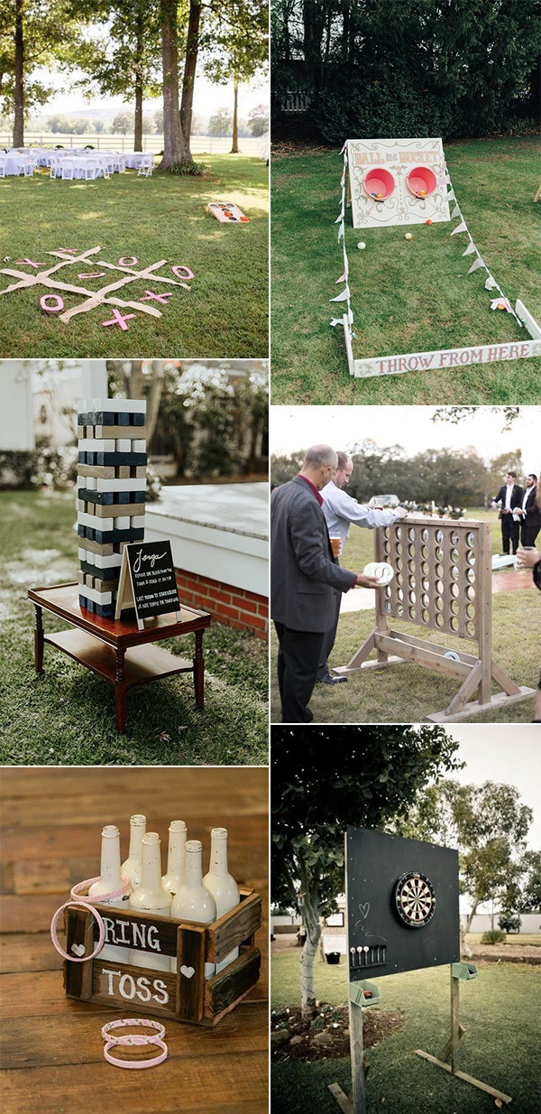 lawn games for backyard wedding ideas