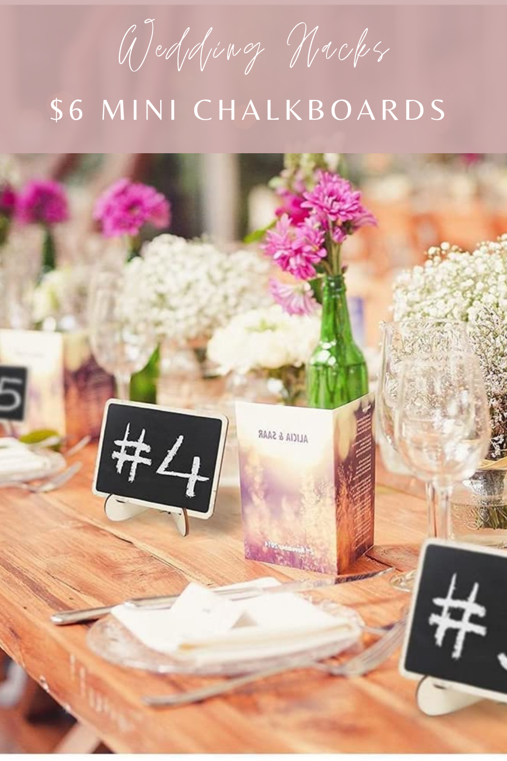 Mini Chalkboards Wedding