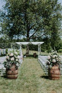 outdoor backyard wedding ceremony decoration ideas