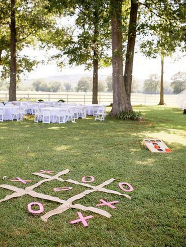 outdoor backyard wedding lawn games