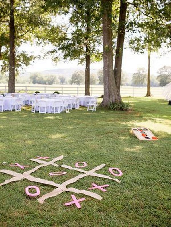 outdoor backyard wedding lawn games