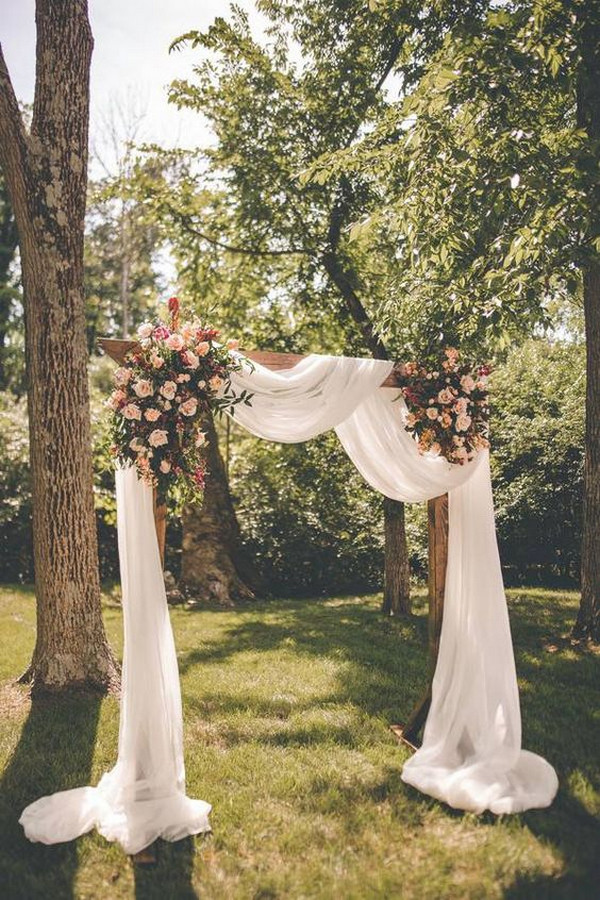 rustic chic backyard wedding arch ideas