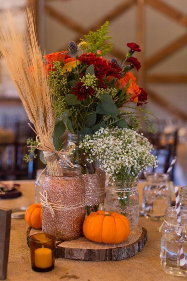 rustic fall wedding centerpiece ideas