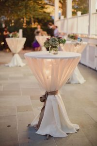 rustic wedding cocktail table ideas