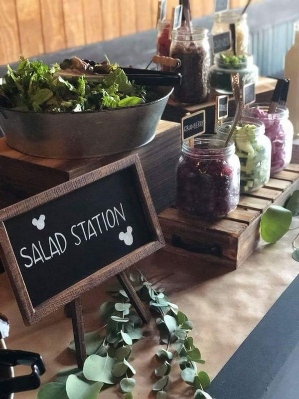 salad wedding food station ideas