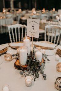 simple chic fall wedding centerpiece ideas