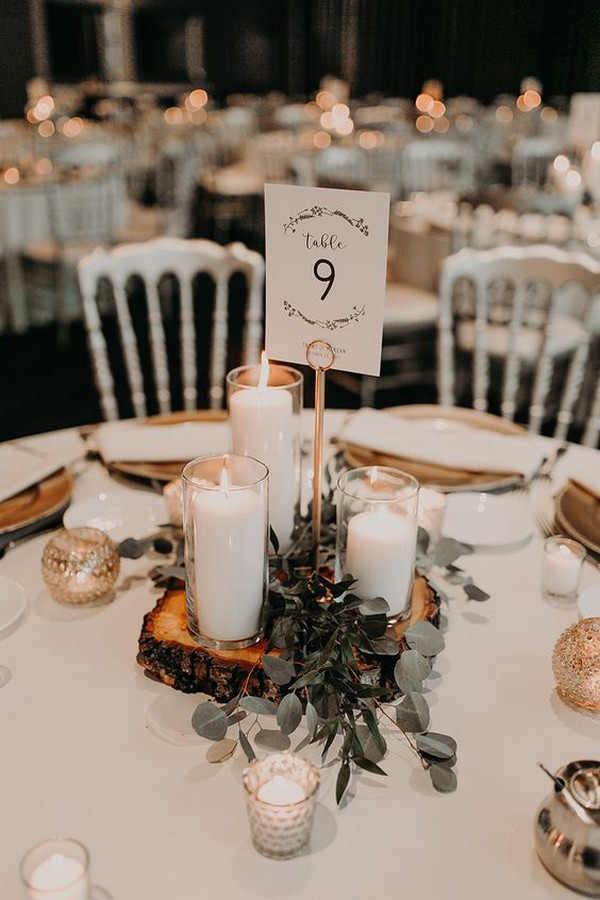simple chic fall wedding centerpiece ideas