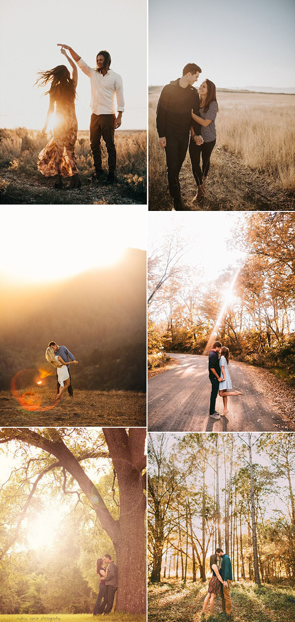 stunning fall engagement photo ideas