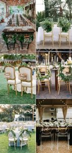 trending bride and groom wedding chair decoration ideas