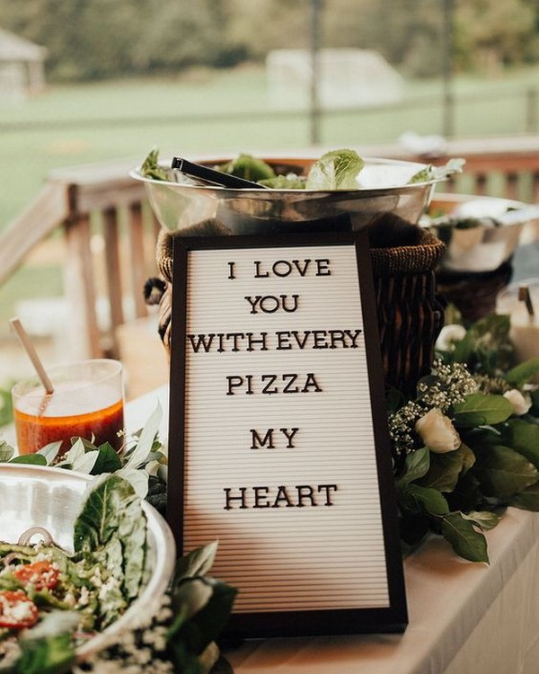 trending wedding food station ideas