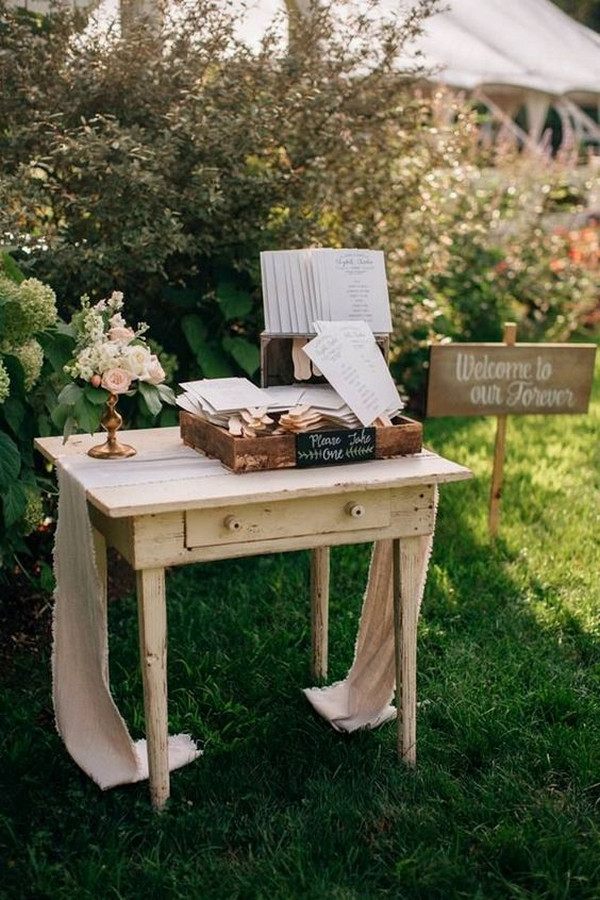 vintage backyard wedding decoration ideas