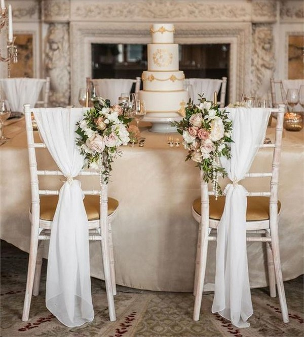 vintage bride and groom wedding chair decoration ideas