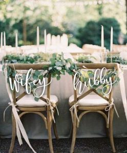 wifey and hubby wedding chair decoration ideas