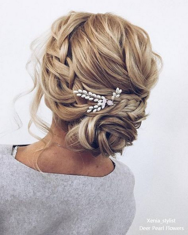 Braided wedding updo wedding hairstyles