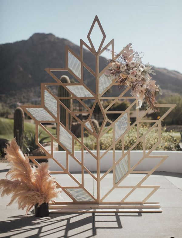 Edgy Prism wedding ceremony backdrop ideas