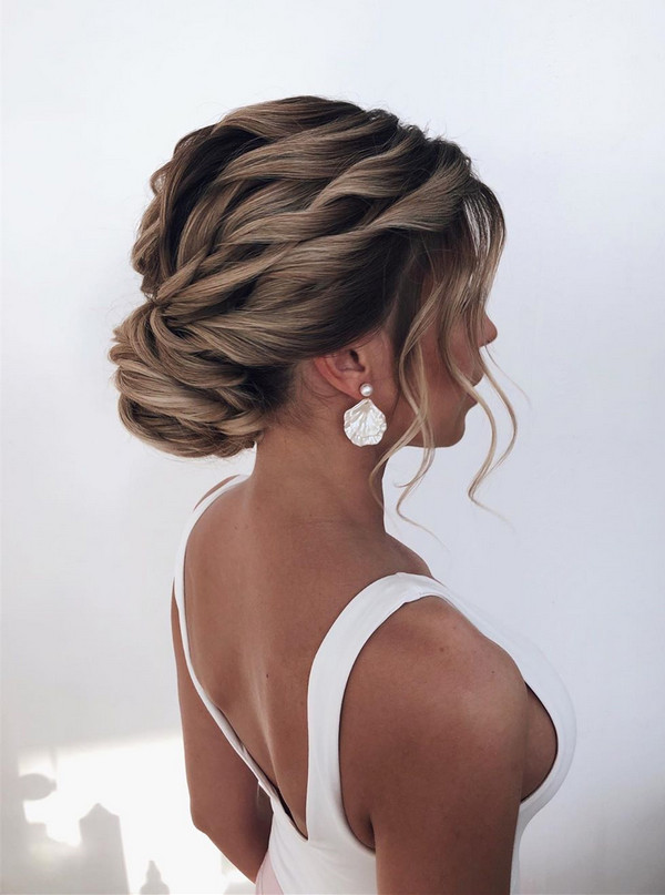 amazing waves updo wedding hairstyle