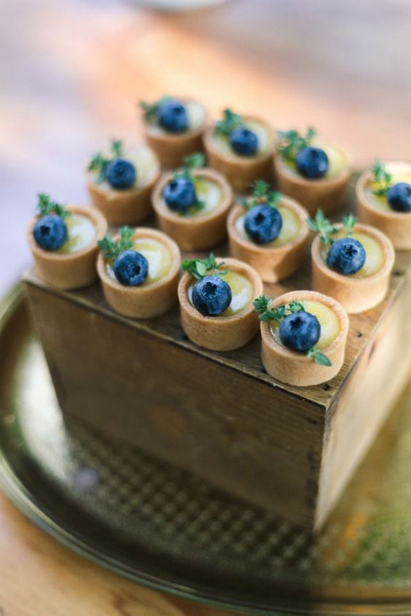blueberry tart wedding finger food ideas