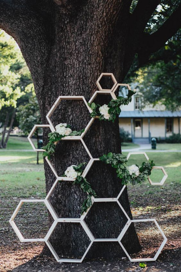 chic simple geometric wedding backdrop