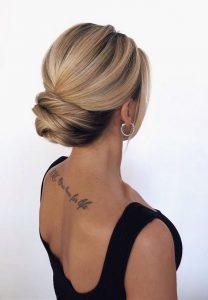 classic elegant updo wedding hairstyle