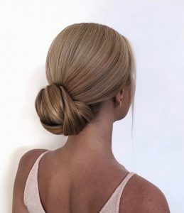 classic french style updo wedding hairstyle