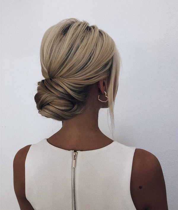 classic pretty updo wedding hairstyle