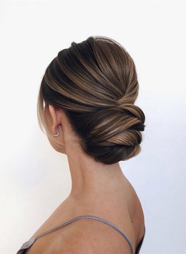 classic updo elegant bridal hairstyle